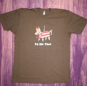 "American Apparel T-shirt ""I'd hit that"" Size XL"